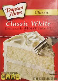 amazon com duncan hines cake mix classic white 16 5 ounce
