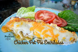 Pot Pie Variations by The Organized Life Chicken Pot Pie Enchiladas The Painted Apron
