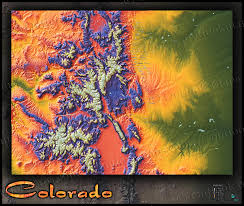 Loveland Colorado Map by Colorado Map Colorful 3d Topography Of Rocky Mountains