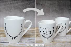 personalized mugs for wedding diy sharpie mugs wedding gift idea the diy lighthouse