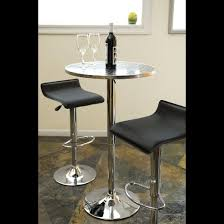 Stainless Steel Bistro Table Bistro Adjustable Bar Table Metal Stainless Steel Lumisource