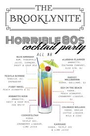 Best Party Cocktails - 80s themed cocktail party at brooklynite sept 25