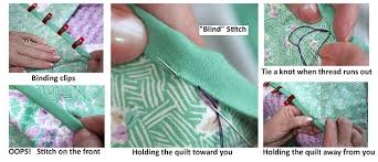 How To Do Blind Hem Stitch By Hand Binding Basics Part 5 Hand Stitching The Binding To The Back