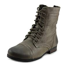 buy boots us steve madden jtroopa youth us 13 brown combat boot shoes