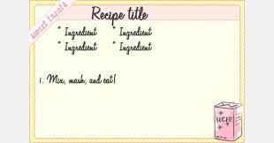 8 free recipe card templates excel pdf formats