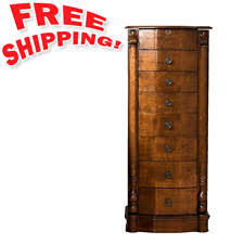Ebay Jewelry Armoire Mirror And Jewelry Armoire Chest Tall Storage Cabinet Weathered