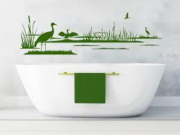 wandtattoos badezimmer wandtattoo vögel im schilf mit kranichen wandtattoos de