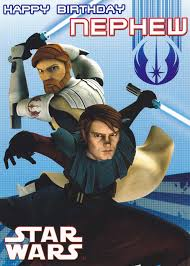star wars clone wars nephew birthday card cardspark