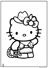 cowboy kitty coloring pages magic color book