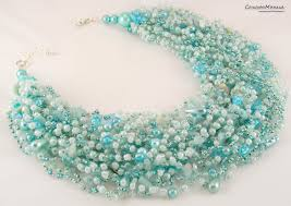 beautiful beads necklace images Gift to the woman beads necklace of natural stone beautiful jpg