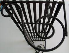 french art deco wrought iron and chrome hall tree coat rack tree