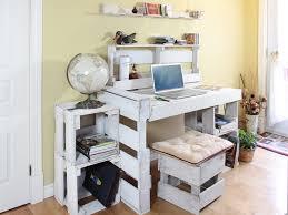 bureau palette bois collection bureau modulaires en palettes récupérées bureau