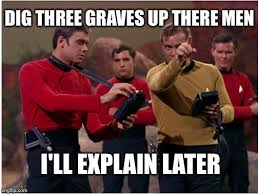 Star Trek Red Shirt Meme - star trek red shirts imgflip
