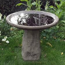 Stone Baths by Garden Bird Bath Feeder Staddle Stone Birdbath Amazon Co Uk