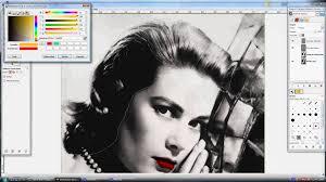 tableau portrait noir et blanc tutoriel comment créer un tableau pop art gimp youtube