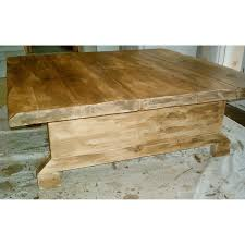 Rustic Coffee Tables With Storage - large square rustic coffee table