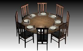 Round Dining Room Tables For  Home Design Ideas And Pictures - Large round kitchen tables