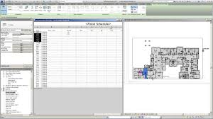 revit for interior design finish schedule linked to floor plans