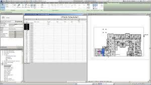 Finish Floor Plan Revit For Interior Design Finish Schedule Linked To Floor Plans