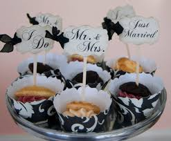 Mr And Mrs Home Decor by Wedding Cupcake Toppers Party Picks Bridal Mix Just