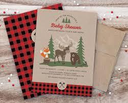 Christmas Baby Shower Invitations - kara u0027s party ideas woodland animal lumberjack baby shower