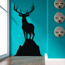 vinyl wall decals picture more detailed picture about elk vinyl elk vinyl wall decal caribou standing on a rock harvest wall sticker art wildlife home decoration