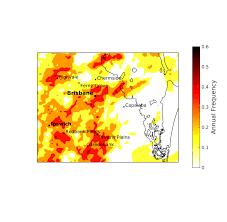 Dr Map Research Maps Thunderstorm U0027hotspots U0027 Uq News The University