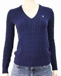 womens ralph sweater polo ralph sport s navy blue v neck cable knit
