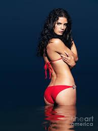 beautiful sexy beautiful sexy woman in red bikini in water photograph by oleksiy