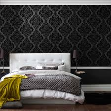 Purple Bedroom Feature Wall - purple and black feature wall house design ideas