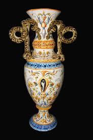 Italian Vase 19th Century Italian Faience Vase For Sale Antiques Com