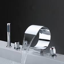 monora brushed nickel waterfall tub faucet three handles shower head for tub faucet home design game hay us