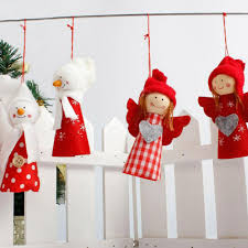 1pc christmas angel doll pendant hanging for xmas tree decor soft