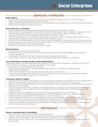event recap template social enterprises services