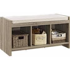 Entryway Shoe Storage Bench Altra Furniture Storage Bench With Beige Walmart Com