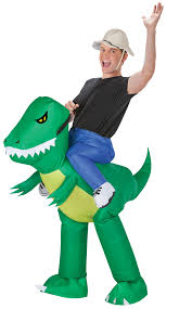 carry me buddy ride on a inflatable dinosaur rider costume