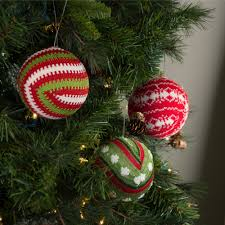 knit christmas 4 knit christmas ornament set of 3 assorted white