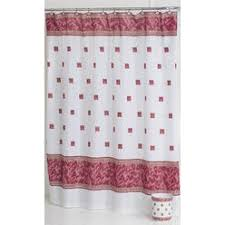 Red Black Shower Curtain Black And Red Shower Curtain