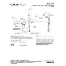 kohler k 72218 cp sensate polished chrome pullout spray kitchen