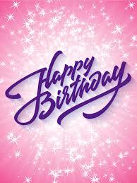 sparkling happy birthday card birthday u0026 greeting cards by davia