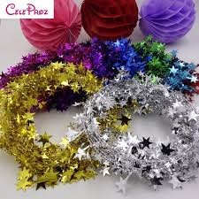 aliexpress buy metallic tinsel garland wire die cut