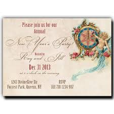 invitations for new years eve party new year u0027s eve party invitation vintage clock and angel