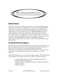 mt solutions introduction letter 103