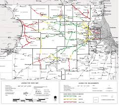 Map Illinois by Northern Illinois Railroads Coverage Map