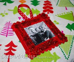 sparkly frame ornament one artsy