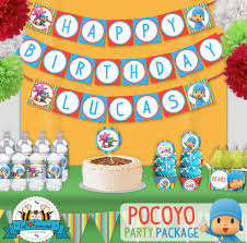 pocoyo party supplies birthday party printable decorations