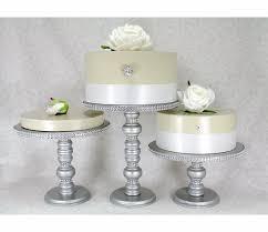 rhinestone cake stand 3 silver cake stands set wedding cake stands rhinestone