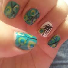 peacock feather toe nail design images