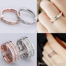 diamond rings girls images High quality super flash single row drilling small diamond ring jpg