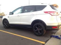 Ford Escape White - focus st wheels test fit 2013 2014 2015 2016 2017 ford